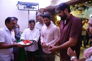 Koratala Siva, Allu Aravind, Nagababu, Allu Arjun @ Naa Peru Surya Movie Pooja Stills