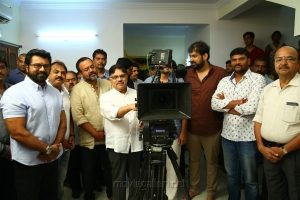 Sarathkumar, Rajeevan, Allu Aravind @ Naa Peru Surya Movie Pooja Stills