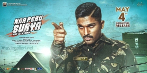 Allu Arjun Naa Peru Surya Naa Illu India Movie Release Today Posters