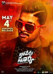 Allu Arjun Naa Peru Surya Movie Release Posters