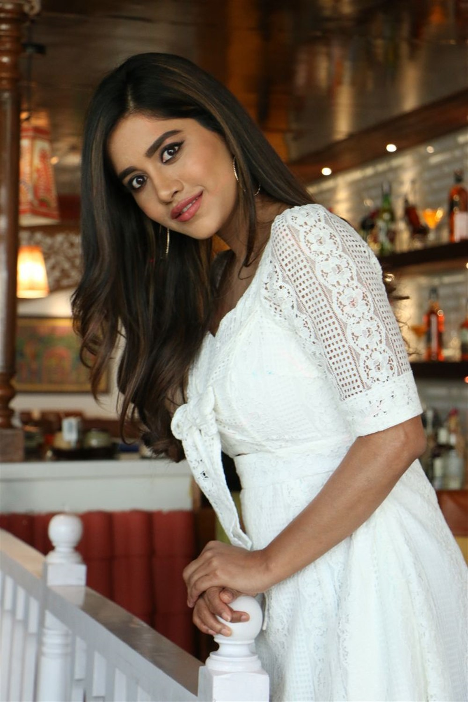 Heroine Nabha Natesh Pictures @ Disco Raja Movie Interview
