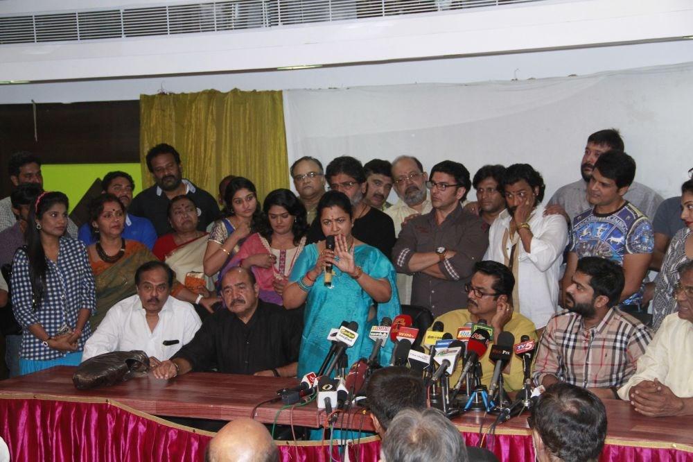 nadigar sangam sarathkumar press meet