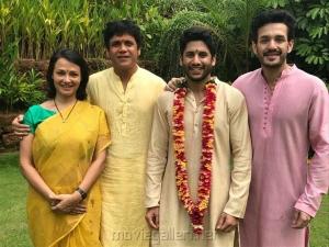Amala, Nagarjuna, Akhil Akkineni @  Naga Chaitanya Bridegroom Photos