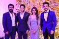 Akhil, Ram Charan @ Naga Chaitanya Samantha Wedding Reception Photos