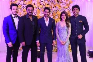 Akhil, Venkatesh, Nagarjuna @ Naga Chaitanya Samantha Wedding Reception Photos