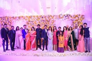 Akkineni Family @ Naga Chaitanya Samantha Wedding Reception Photos