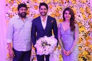 Chiranjeevi @ Naga Chaitanya Samantha Wedding Reception Photos