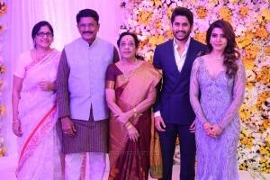 Naga Susheela, Murali Mohan, Jamuna @ Naga Chaitanya Samantha Wedding Reception Photos