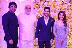 Nagarjuna, K Raghavendra Rao @ Naga Chaitanya Samantha Wedding Reception Photos