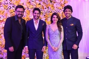 Nagarjuna, Venkatesh @ Naga Chaitanya Samantha Wedding Reception Photos