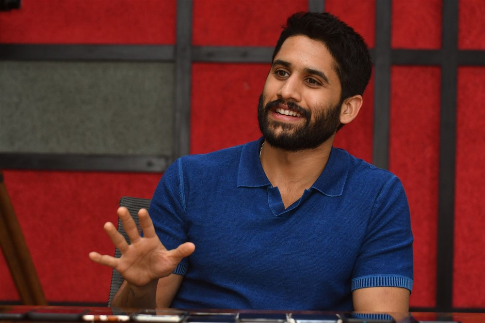 Venky Mama Hero Naga Chaitanya Press Meet Stills