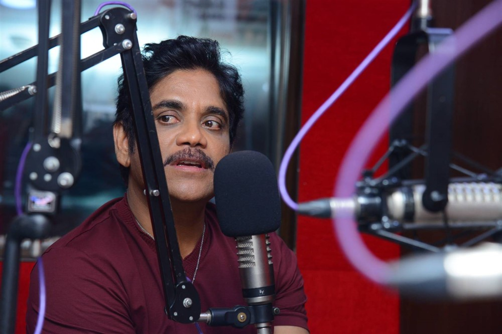 Nagarjuna @ Red FM for Manmadhudu 2 Second Song Launch