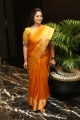 Actress Nagma in Golden Silk Saree Photos