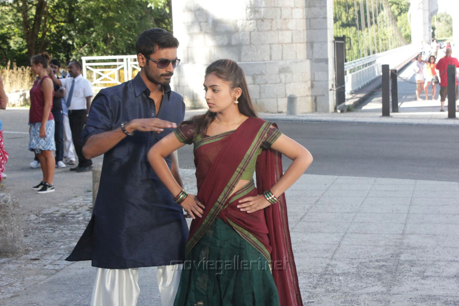 Dhanush, Nazriya Nazim in Naiyaandi Movie Stills