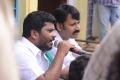 Director A.Sarkunam at Naiyandi Tamil Movie Working Stills