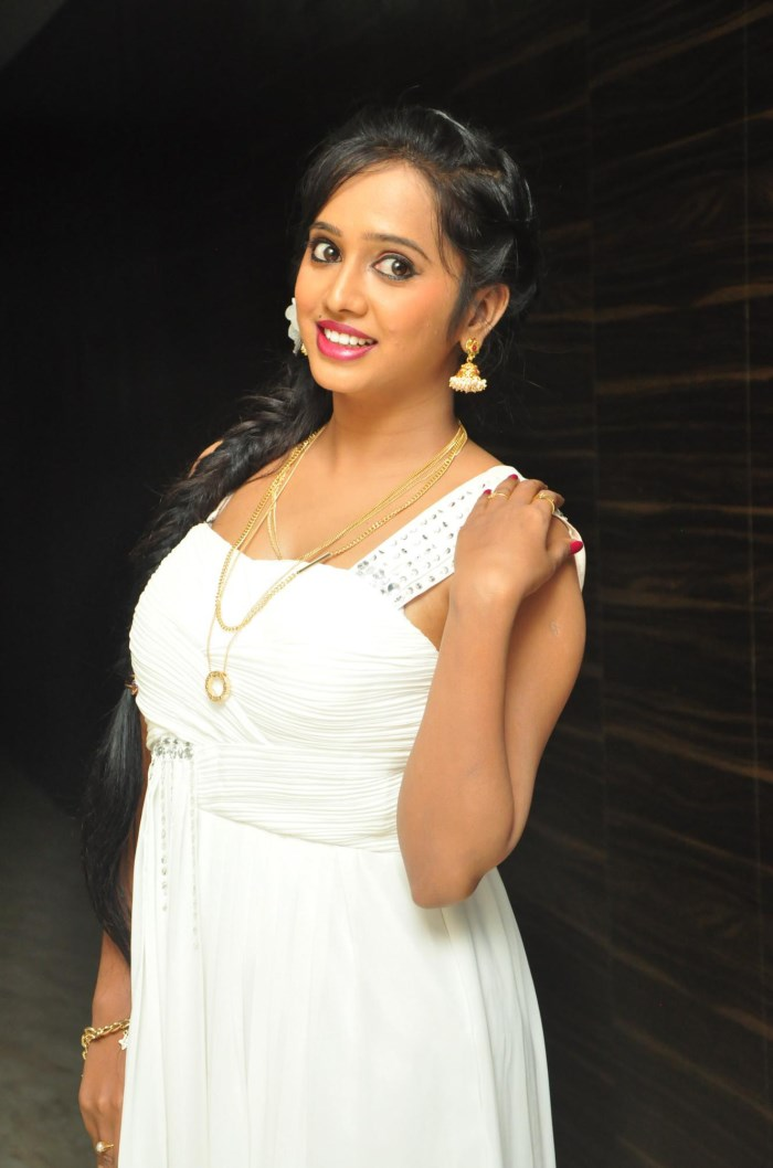 Actress Nakshatra Hot Pics in White Dress
