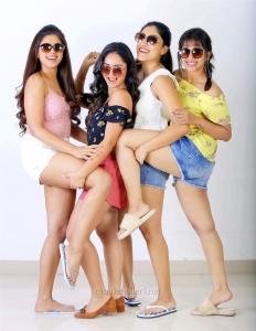 Siddhi Idnani, Tridha Choudhury, Dhanya Balakrishna, Komali Prasad in Naluguru Ammayila Kadha Movie Stills HD