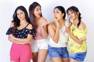 Tridha Choudhury, Siddhi Idnani, Dhanya Balakrishna, Komali Prasad in Naluguru Ammayila Kadha Movie Stills HD