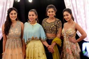 Dhanya Balakrishna, Komali Prasad, Siddhi Idnani, Tridha Choudhury in Naluguru Ammayila Kadha Movie Stills HD