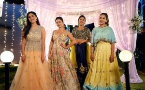 Dhanya Balakrishna, Tridha Choudhury, Siddhi Idnani, Komali Prasad in Naluguru Ammayila Kadha Movie Stills HD