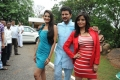 Swetha Jadav, Raja, Gehana Vasisth @ Namaste Telugu Movie Opening Stills