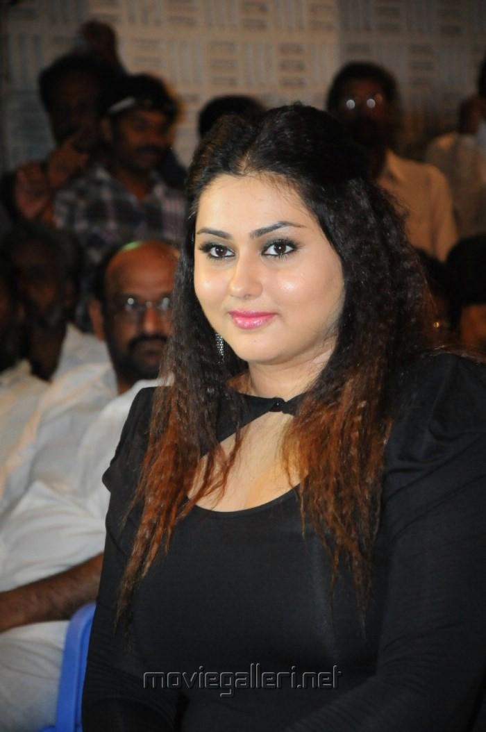 Namitha Latest Hot Photos In Black Mini Dress At Gugan Tamil Movie
