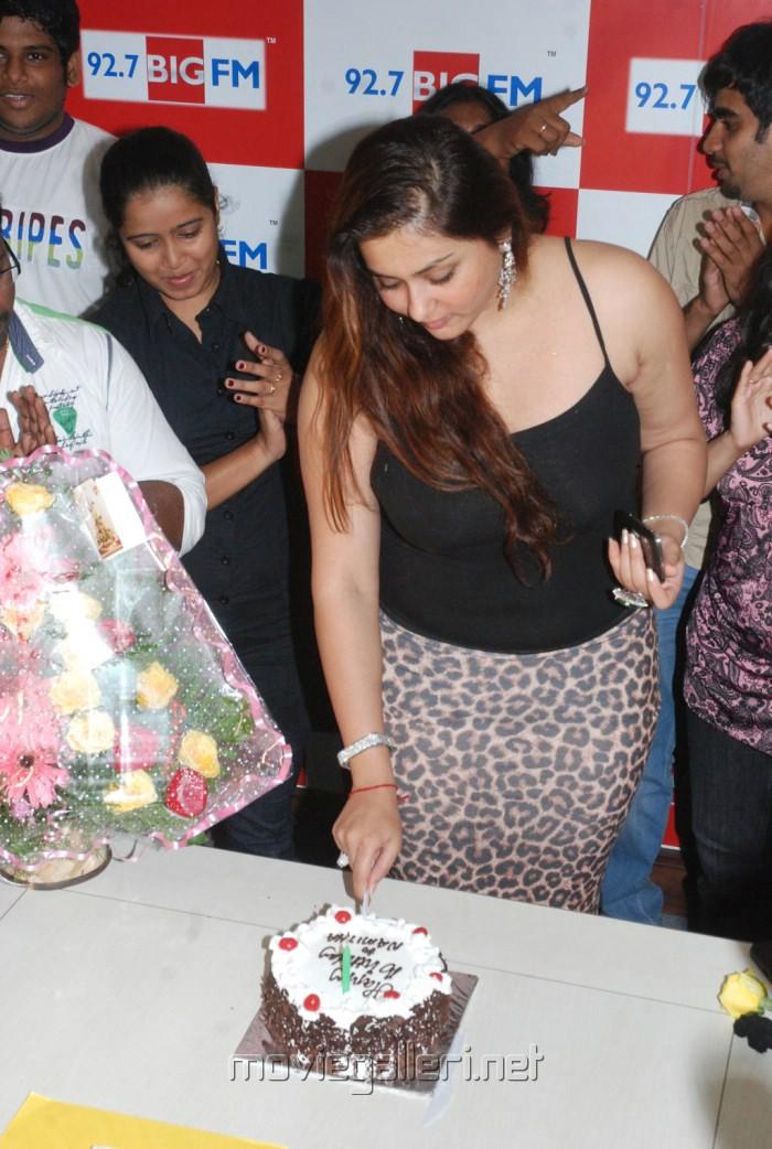 Actress Namitha Hot Pics in Birthday Celebrations