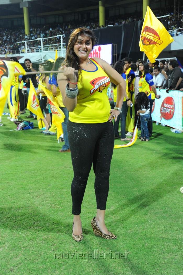 Namitha Hot Stills at CCL Semi Final Match