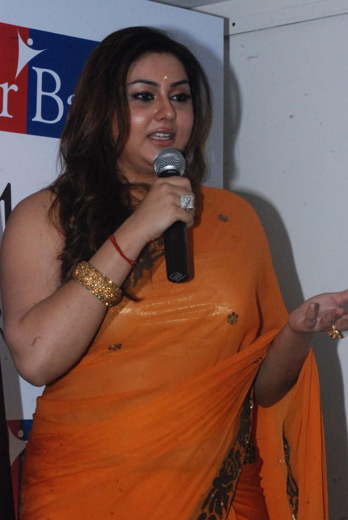 Tamil Actress Namitha Orange Saree Hot Photos   Gallery View