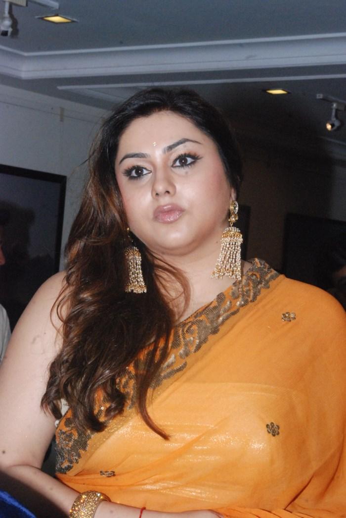 Actress Namitha in Orange Saree Hot Photos [ Gallery View ]