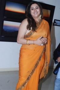 Actress Namitha Hot Photos in Orange Saree