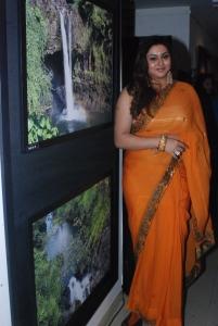 Actress Namitha Mukesh Vankawala in Orange Saree Hot Photos