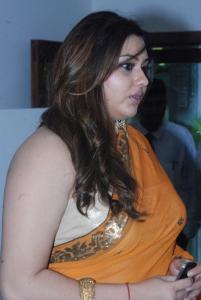 Tamil Actress Namitha Orange Saree Hot Photos