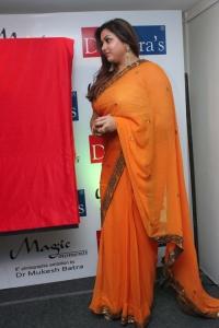Actress Namitha in Orange Saree Hot Photos