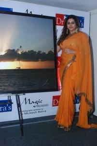 Tamil Actress Namitha Orange Saree Latest Hot Photos
