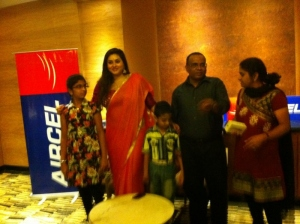 Actress Namitha met her fans in Aircel Meet Photos