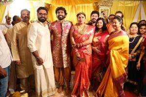 Sarathkumar, Radhika @ Actress Namitha Veera Marriage Photos