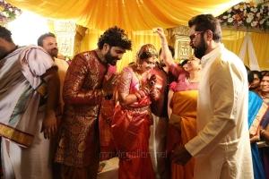 Radhika, Sarathkumar @  Namitha Veera Marriage Photos