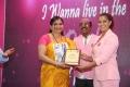 Varalaxmi @ Namma Chennai Airport Turns Pink PINKTOBER 2019 Breast Cancer Free India Event Photos
