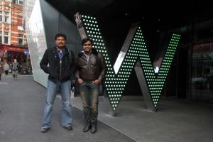 Shankar, Harris Jayaraj at Nanban On Location Stills