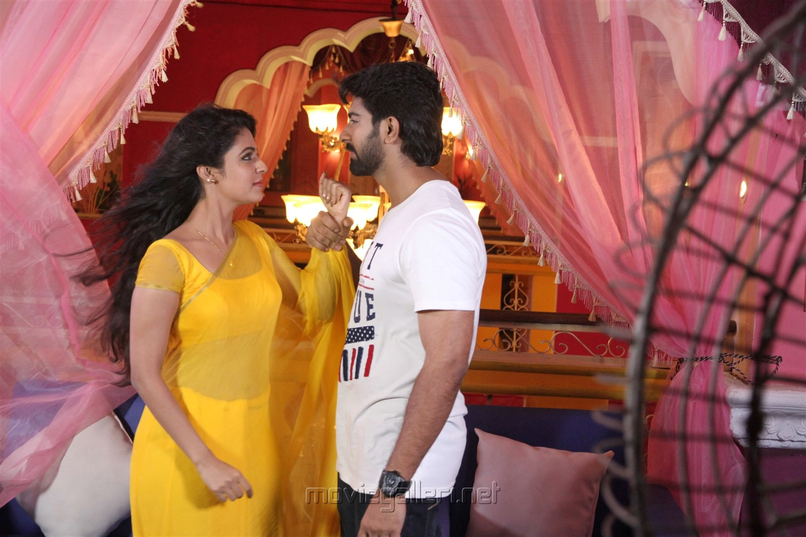 Actress Malavika Wales Hot Rahul Ravi in Nandini TV Serial Photos