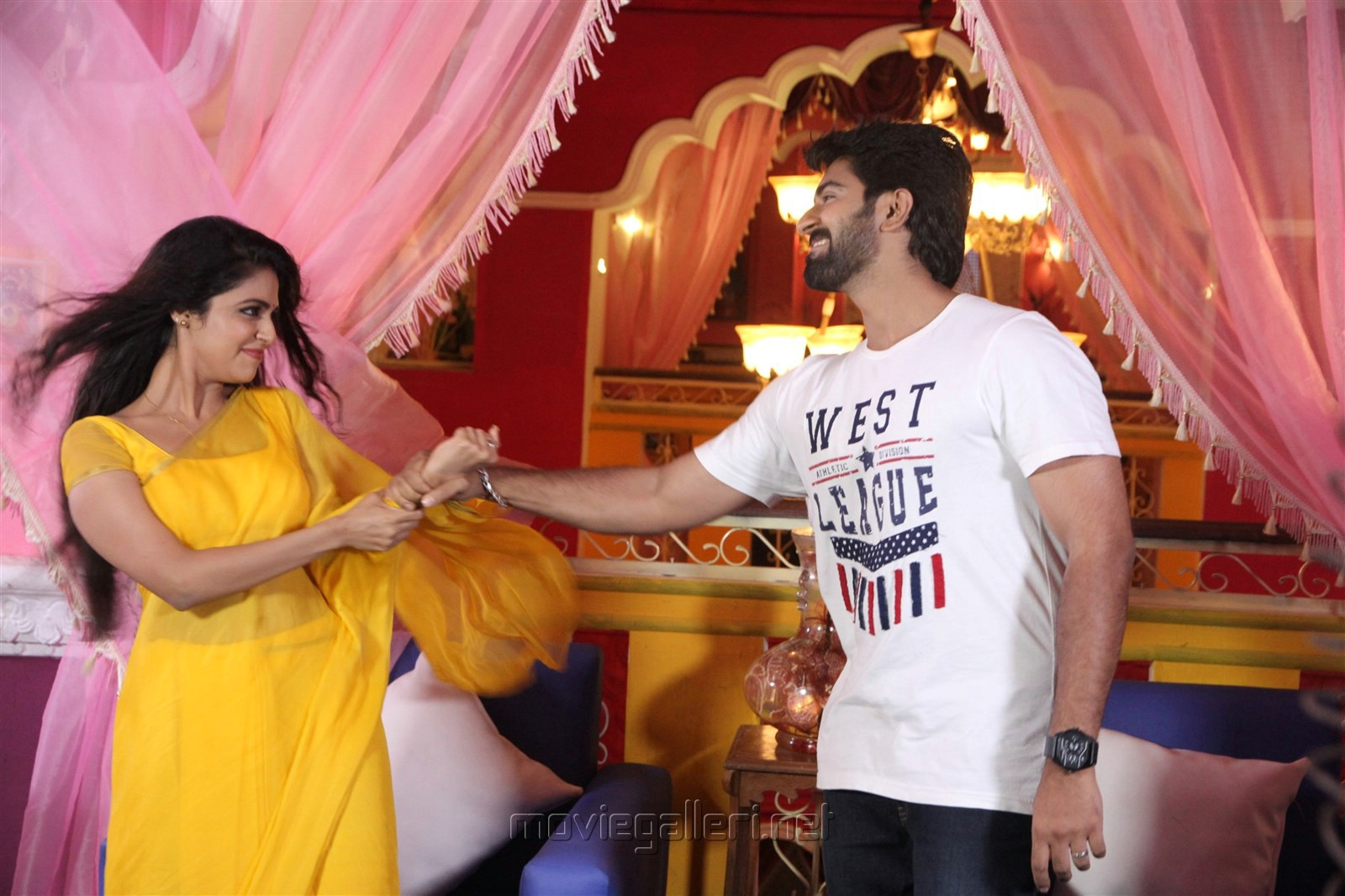 Malavika Wales, Rahul Ravi in Nandini TV Serial Photos