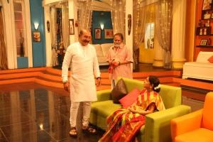 Vijayakumar, Sachu @ Nandini TV Serial Working Stills