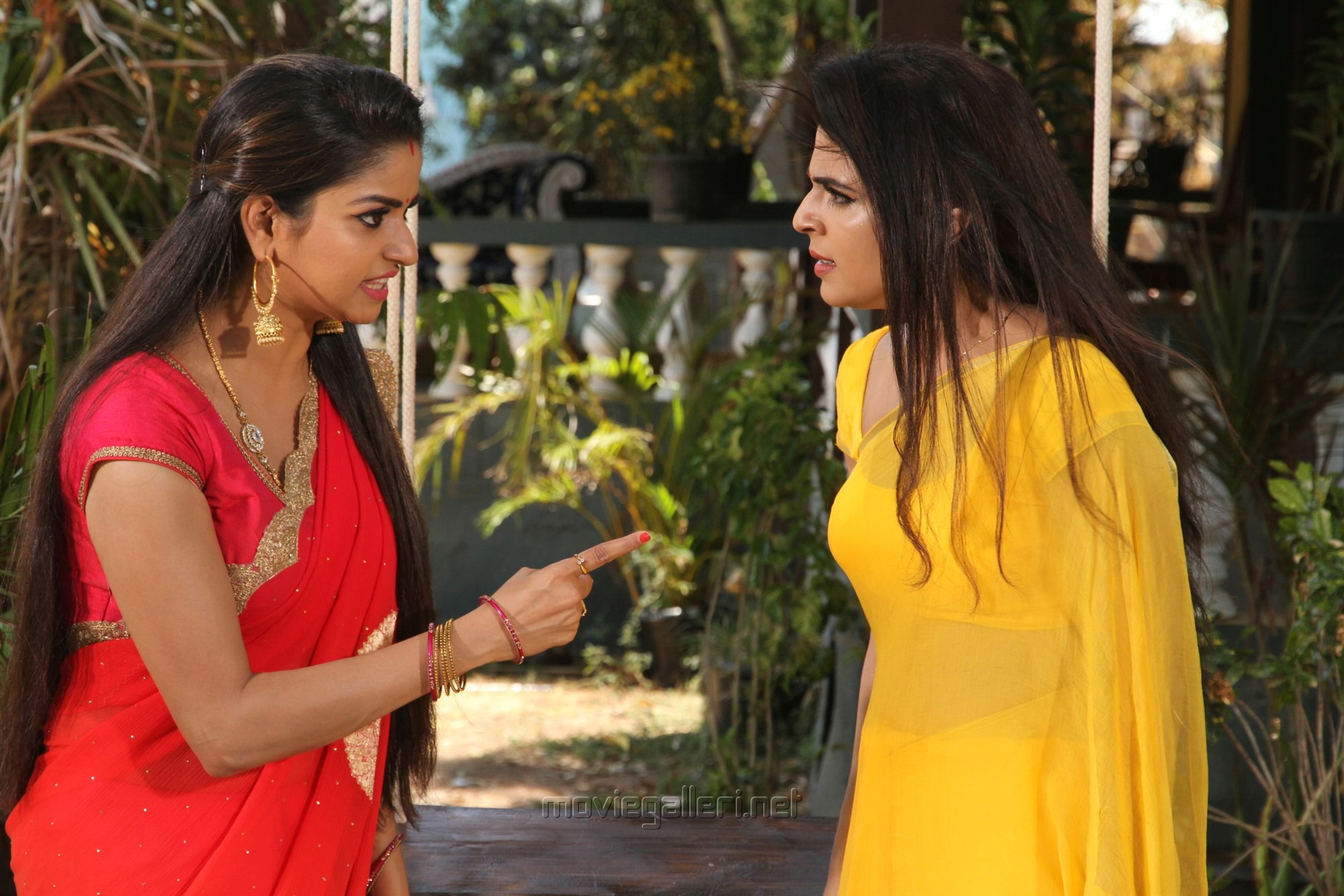 Nithya Ram, Malavika Wales @ Nandini TV Serial Working Stills