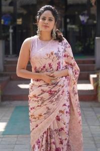Actress Nandita Swetha New Saree Pictures @ Akshara Movie Interview