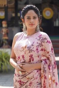 Actress Nandita Swetha Saree Pictures @ Akshara Movie Interview