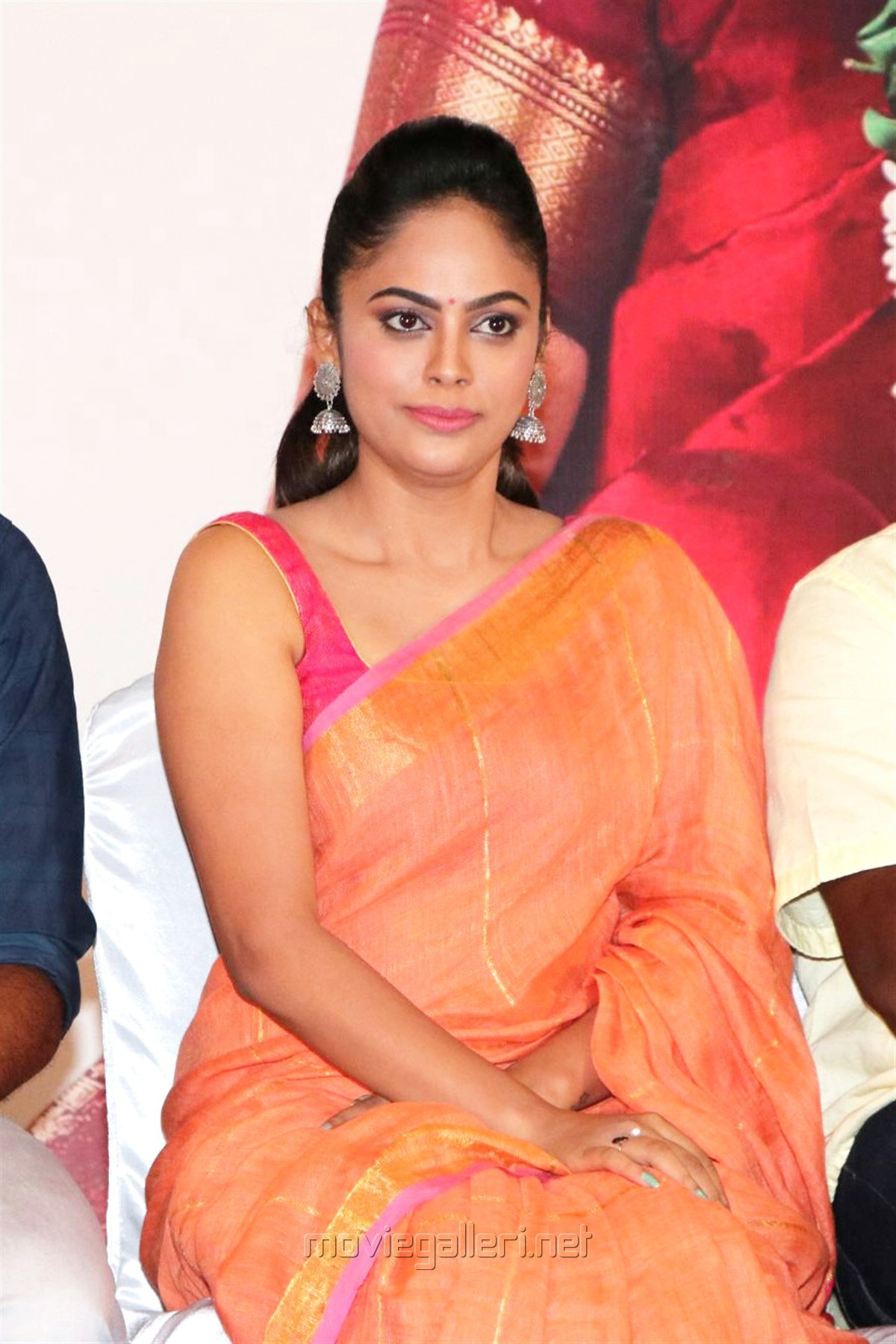 Actress Nandita Swetha Saree Images HD @ Asuravadham Press Meet