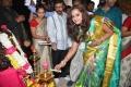 Nanditha Raj launches Kanchipuram Kamakshi Silks at Women's World, Himayat Nagar