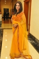 Beautiful Actress Nanditha Raj in Yellow Saree Photos
