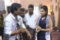 Director Andal Ramesh, Chandini @ Nandu En Nanban Movie Working Stills